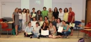 חלוקת תעודות סיום בקורס הנחיית קבוצות פסיכודינאמית